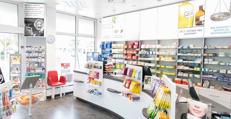Modernisierter Verkaufsraum der Markus Apotheke in Bremen